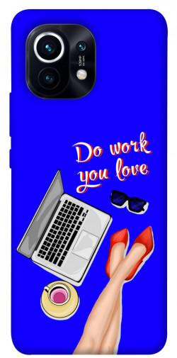 Чехол itsPrint Do work you love для Xiaomi Mi 11