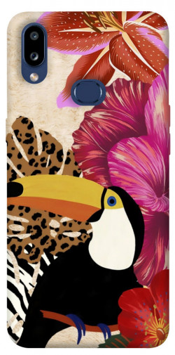 Чехол itsPrint Тукан среди цветов для Samsung Galaxy M01s