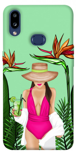 Чехол itsPrint Tropical girl для Samsung Galaxy M01s