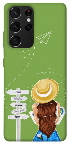 Чехол itsPrint Travel girl для Samsung Galaxy S21 Ultra