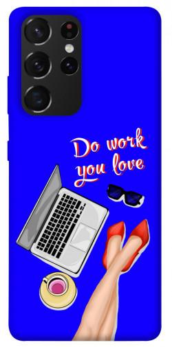 Чехол itsPrint Do work you love для Samsung Galaxy S21 Ultra