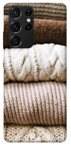 Чехол itsPrint Knitted aesthetics для Samsung Galaxy S21 Ultra