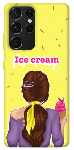Чехол itsPrint Ice cream girl для Samsung Galaxy S21 Ultra