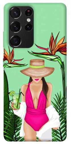 Чехол itsPrint Tropical girl для Samsung Galaxy S21 Ultra