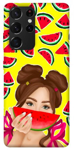 Чехол itsPrint Watermelon girl для Samsung Galaxy S21 Ultra