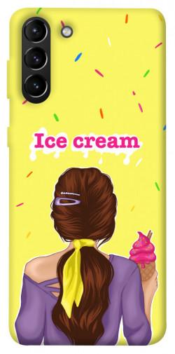 Чехол itsPrint Ice cream girl для Samsung Galaxy S21+