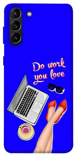 Чехол itsPrint Do work you love для Samsung Galaxy S21+