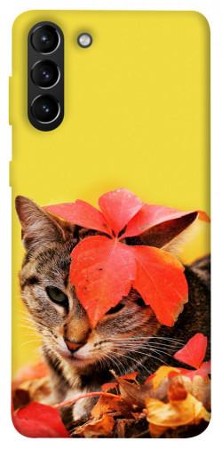 Чехол itsPrint Осенний котик для Samsung Galaxy S21+