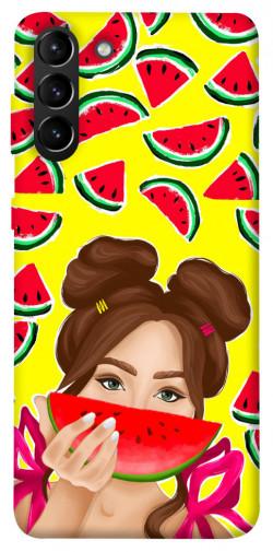 Чехол itsPrint Watermelon girl для Samsung Galaxy S21+