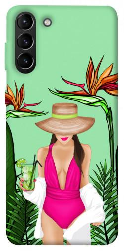 Чехол itsPrint Tropical girl для Samsung Galaxy S21+