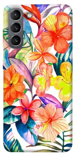 Чехол itsPrint Цветочный коктейль для Samsung Galaxy S21