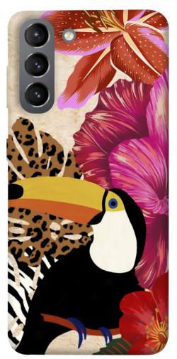 Чехол itsPrint Тукан среди цветов для Samsung Galaxy S21