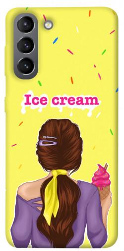 Чехол itsPrint Ice cream girl для Samsung Galaxy S21