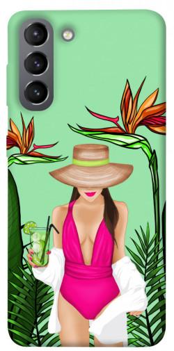 Чехол itsPrint Tropical girl для Samsung Galaxy S21