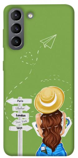 Чехол itsPrint Travel girl для Samsung Galaxy S21