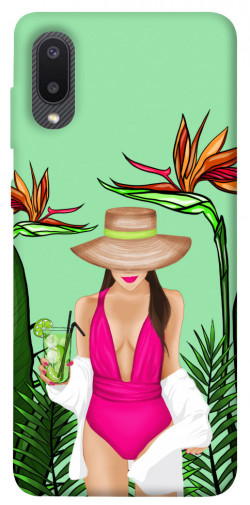 Чехол itsPrint Tropical girl для Samsung Galaxy A02