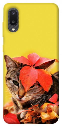 Чехол itsPrint Осенний котик для Samsung Galaxy A02