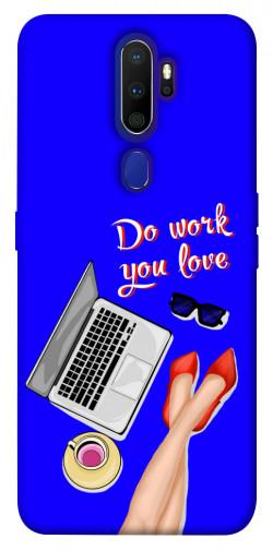 Чехол itsPrint Do work you love для Oppo A9 (2020)