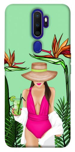 Чехол itsPrint Tropical girl для Oppo A9 (2020)