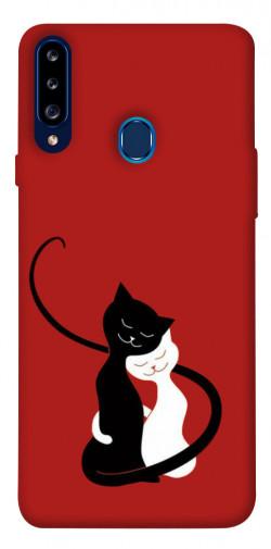 Чехол itsPrint Влюбленные коты для Samsung Galaxy A20s