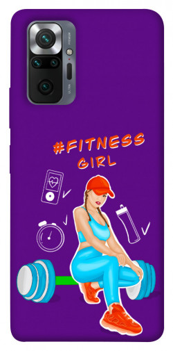Чехол itsPrint Fitness girl для Xiaomi Redmi Note 10 Pro