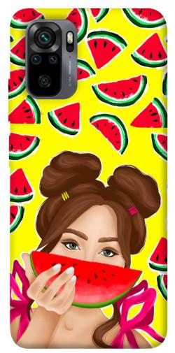 Чехол itsPrint Watermelon girl для Xiaomi Redmi Note 10