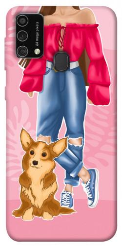 Чехол itsPrint Girl and corgi для Samsung Galaxy M21s