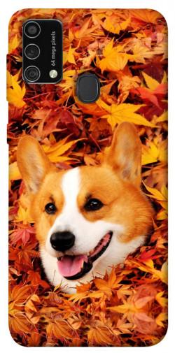 Чехол itsPrint Корги в листьях для Samsung Galaxy M21s