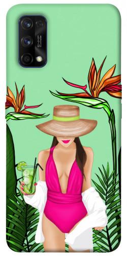 Чехол itsPrint Tropical girl для Realme 7 Pro