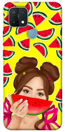 Чехол itsPrint Watermelon girl для Oppo A15s / A15