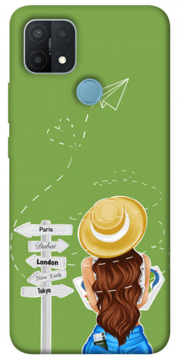 Чехол itsPrint Travel girl для Oppo A15s / A15