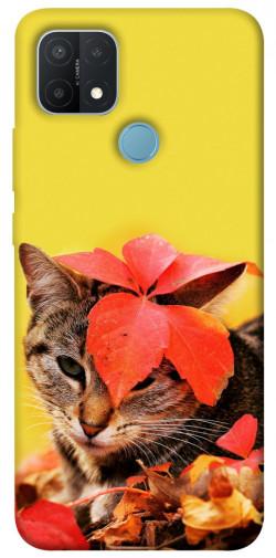 Чехол itsPrint Осенний котик для Oppo A15s / A15
