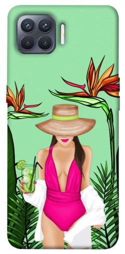 Чехол itsPrint Tropical girl для Oppo Reno 4 Lite