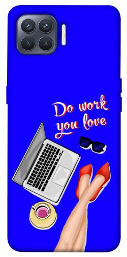 Чехол itsPrint Do work you love для Oppo Reno 4 Lite