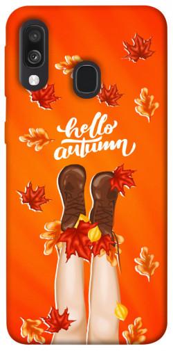 Чехол itsPrint Hello autumn для Samsung Galaxy A40 (A405F)