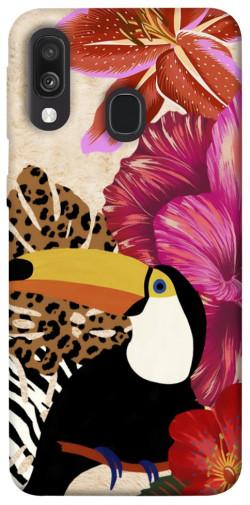 Чехол itsPrint Тукан среди цветов для Samsung Galaxy A40 (A405F)