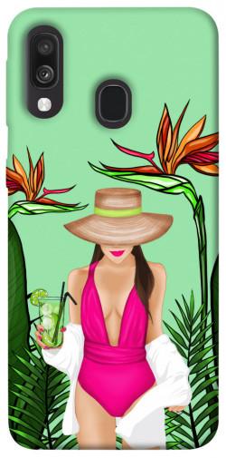 Чехол itsPrint Tropical girl для Samsung Galaxy A40 (A405F)
