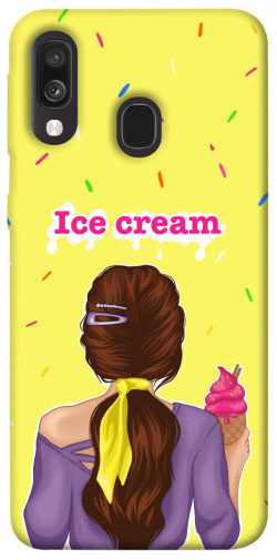 Чехол itsPrint Ice cream girl для Samsung Galaxy A40 (A405F)