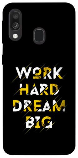 Чехол itsPrint Work hard для Samsung Galaxy A40 (A405F)