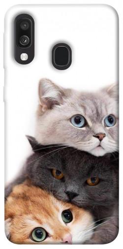 Чехол itsPrint Три кота для Samsung Galaxy A40 (A405F)
