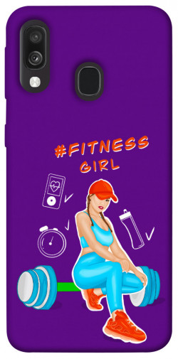 Чехол itsPrint Fitness girl для Samsung Galaxy A40 (A405F)