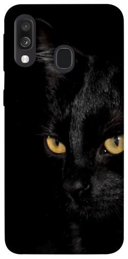 Чехол itsPrint Черный кот для Samsung Galaxy A40 (A405F)