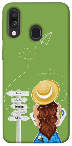 Чехол itsPrint Travel girl для Samsung Galaxy A40 (A405F)