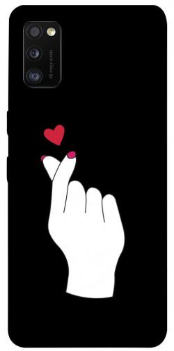 Чехол iPrint Сердце в руке для Samsung Galaxy A41