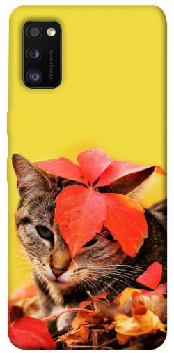 Чехол itsPrint Осенний котик для Samsung Galaxy A41