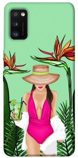 Чехол itsPrint Tropical girl для Samsung Galaxy A41