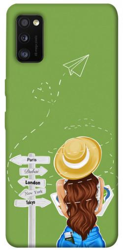 Чехол itsPrint Travel girl для Samsung Galaxy A41