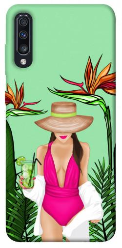 Чехол itsPrint Tropical girl для Samsung Galaxy A70 (A705F)
