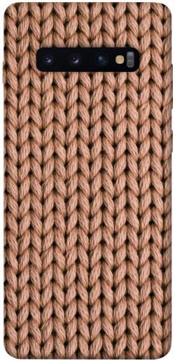 Чехол itsPrint Knitted texture для Samsung Galaxy S10+