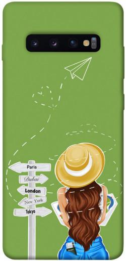 Чехол itsPrint Travel girl для Samsung Galaxy S10+